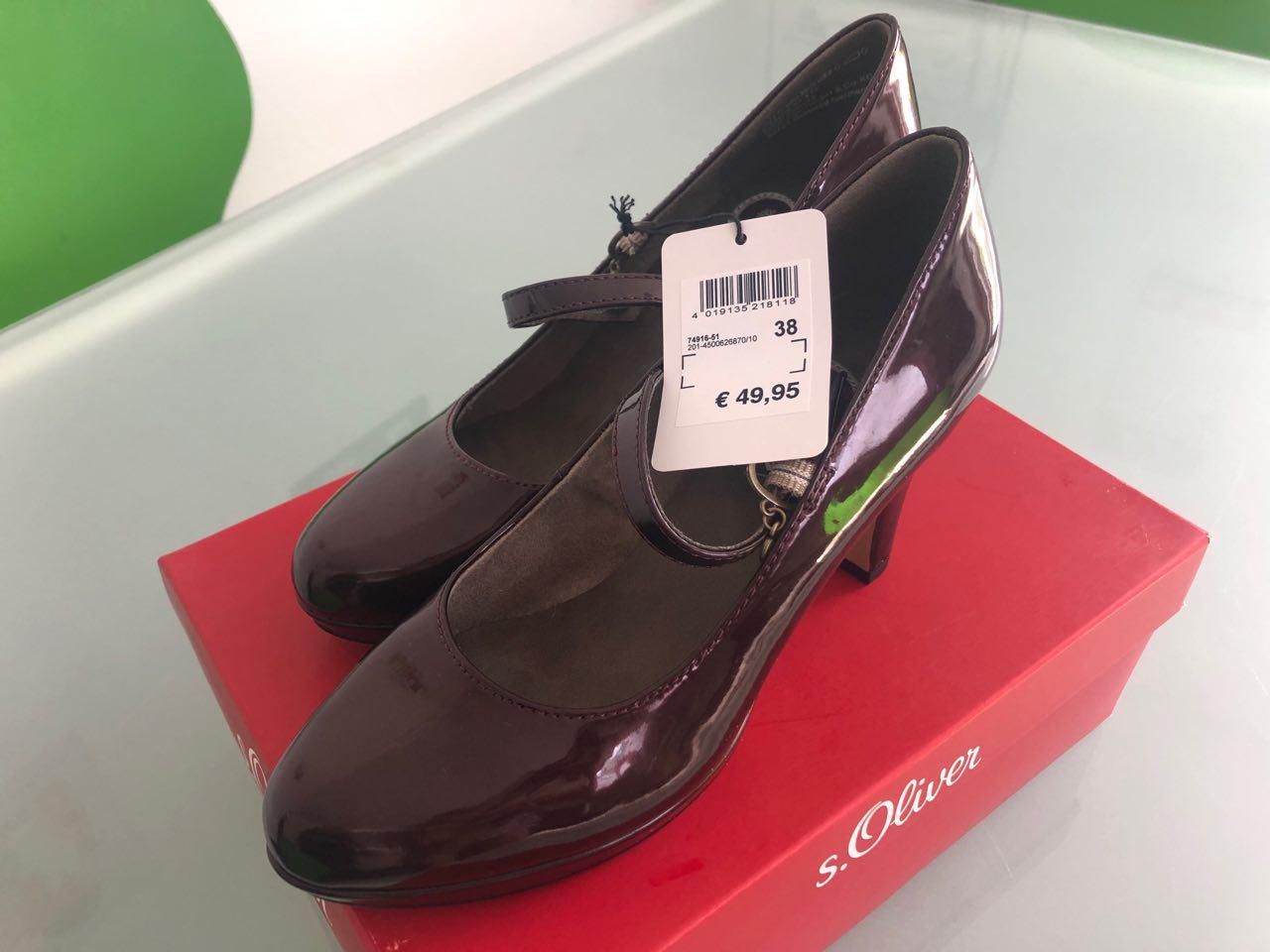 Bild Nummer 2 von Damen Unpaar-Schuhe Pumps S. Oliver li. 37 re. 38 Riemchen Absatz glänzend