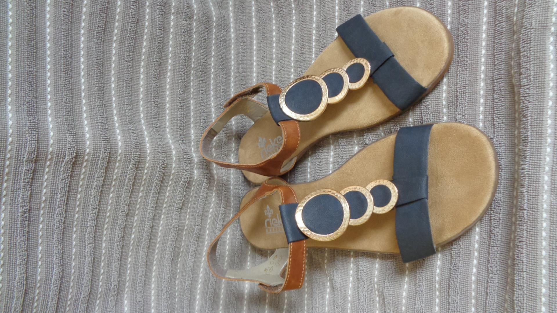 Sandalen - Rieker blau