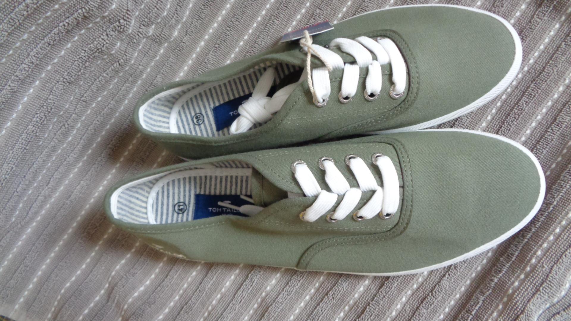Bild Nummer 2 von Schnürschuh Sommer - TomTailor olivgrün-weiß
