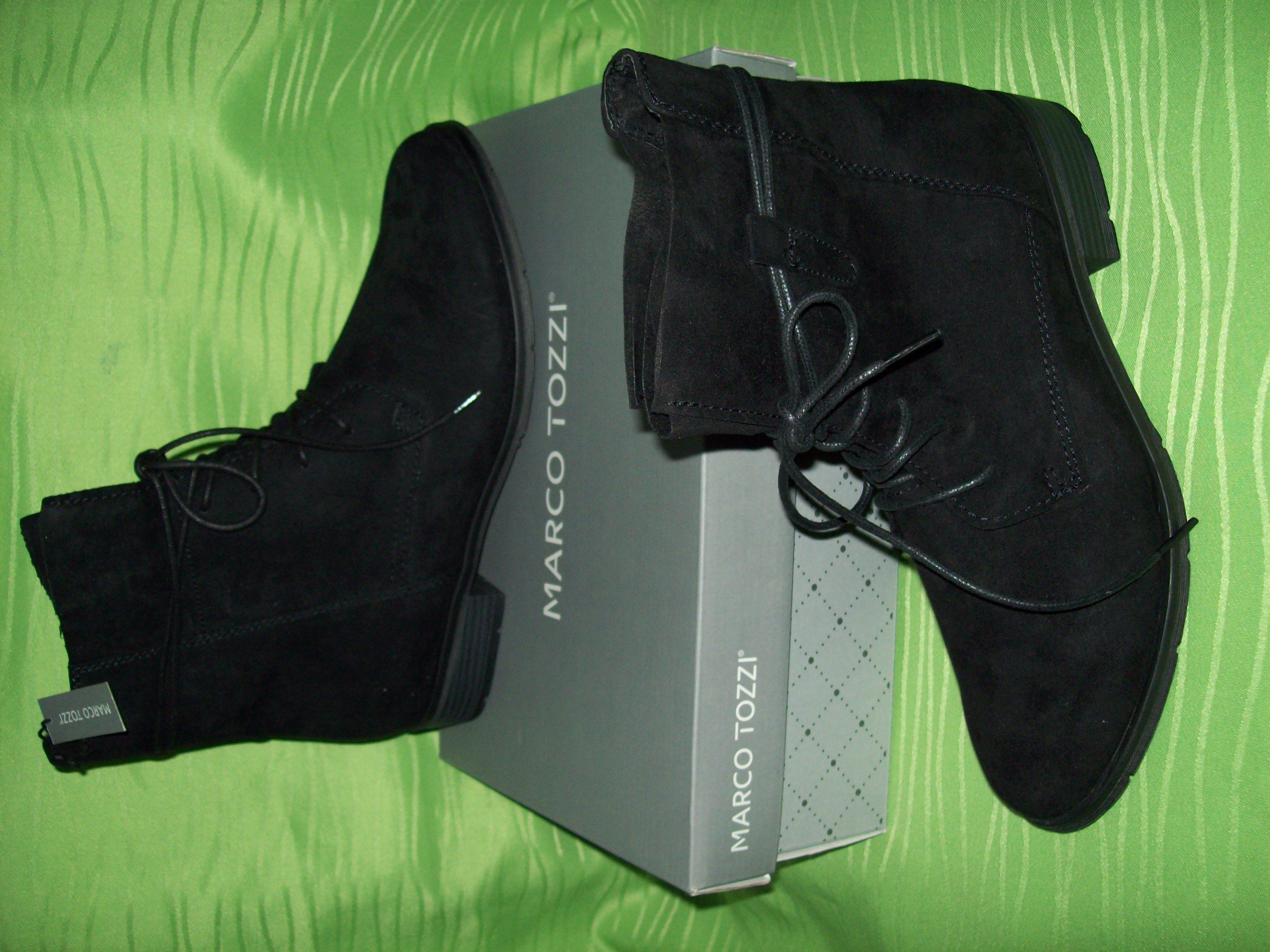 Damen-Schnürschuh schwarz von Marco Tozzi