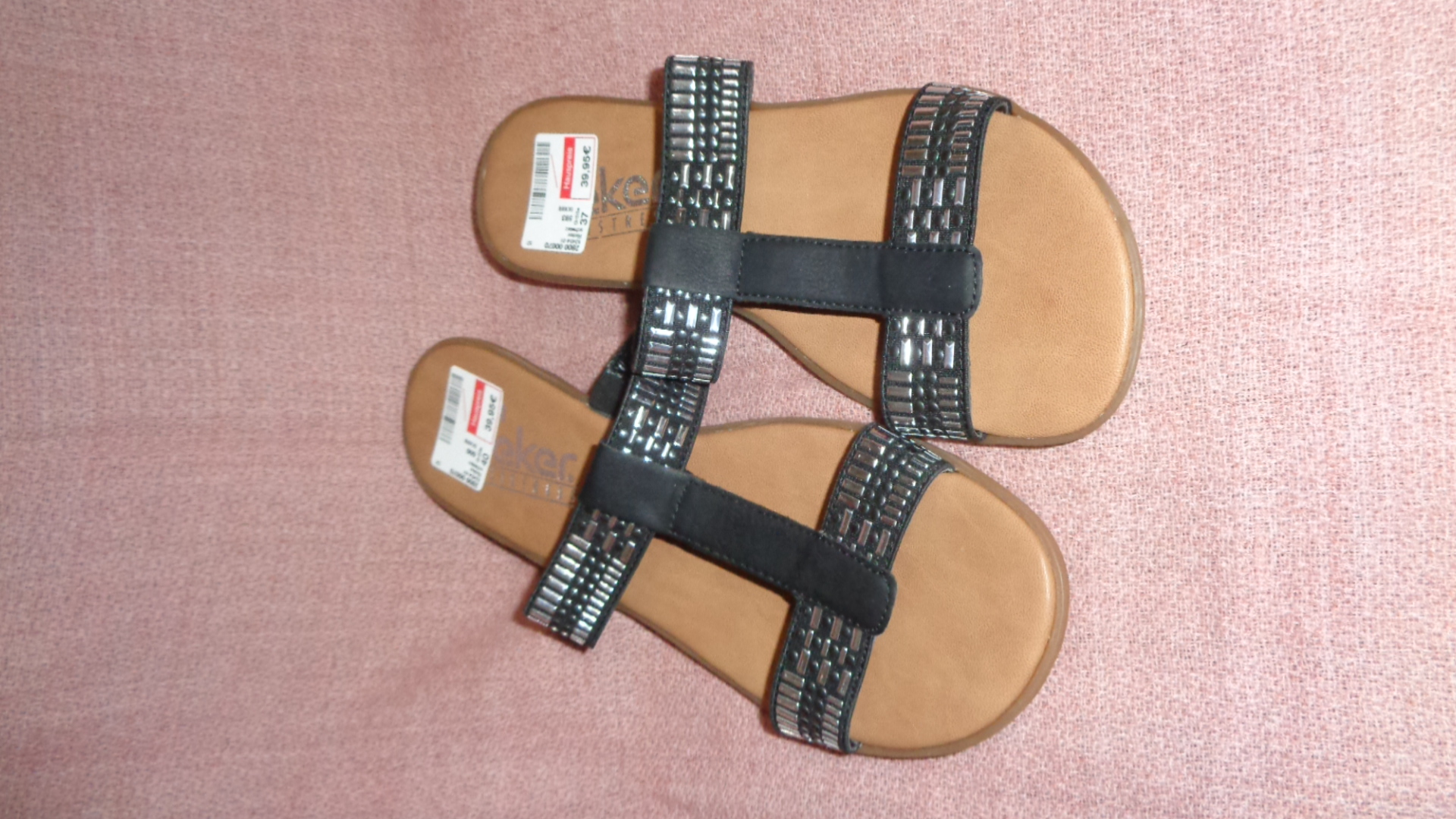 Sandale - Rieker schwarz