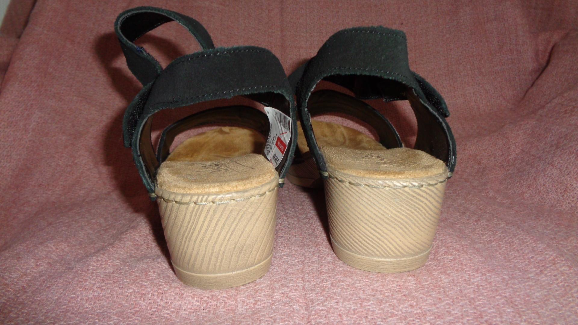 Bild Nummer 3 von Sandale - Rieker schwarz mit Absatz