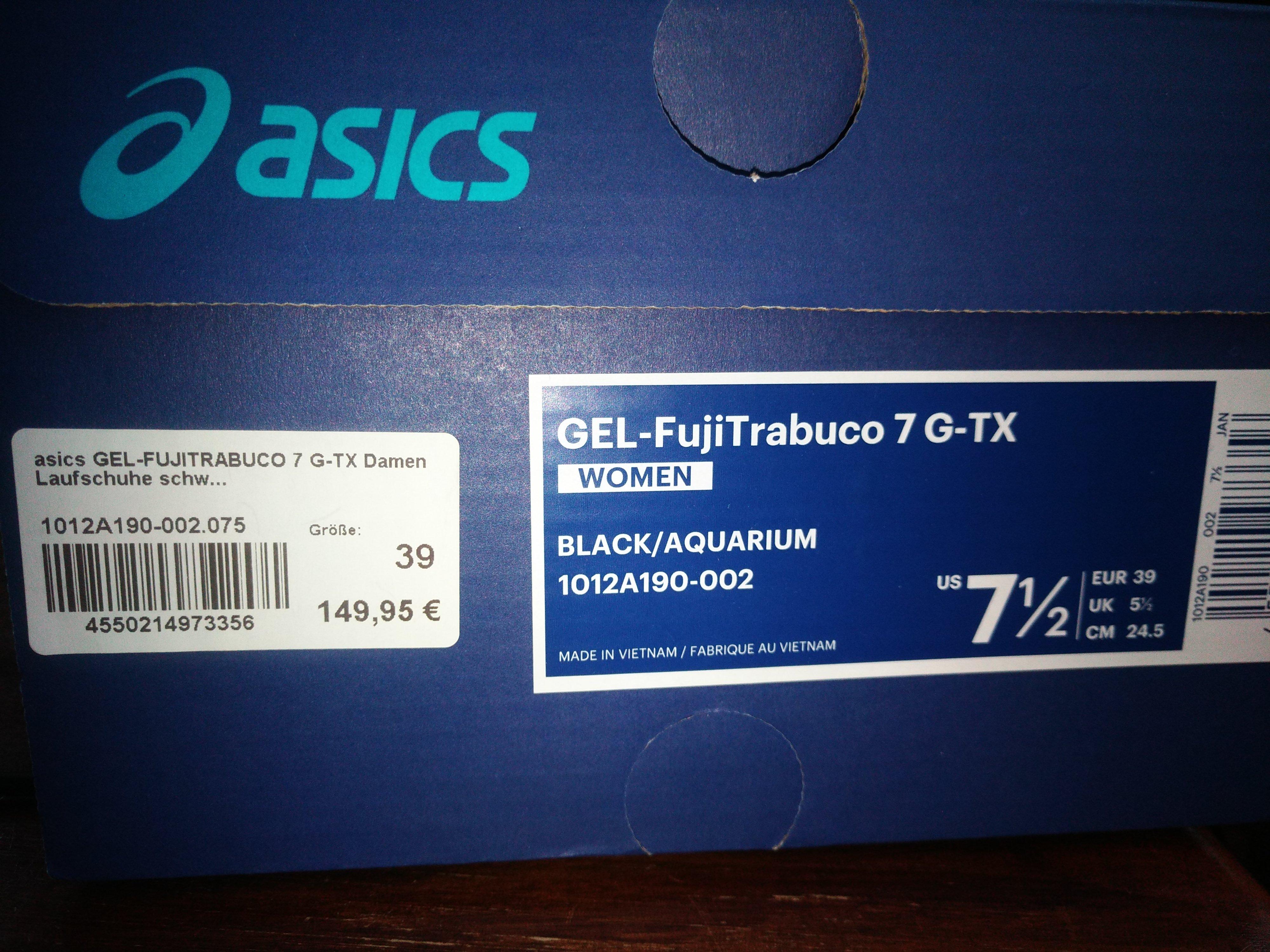 Bild Nummer 5 von ASICS, Gel-Fujitrabuco 7 G-tx, Laufschuh, black/ aquarium, Damen