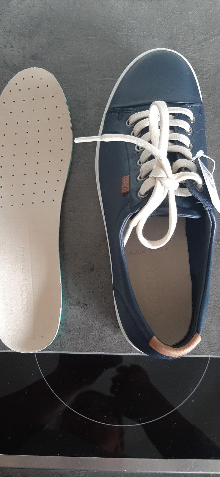 Sneaker Schuhe ecco links 39 rechts 40  dunkelblau Leder  Neu