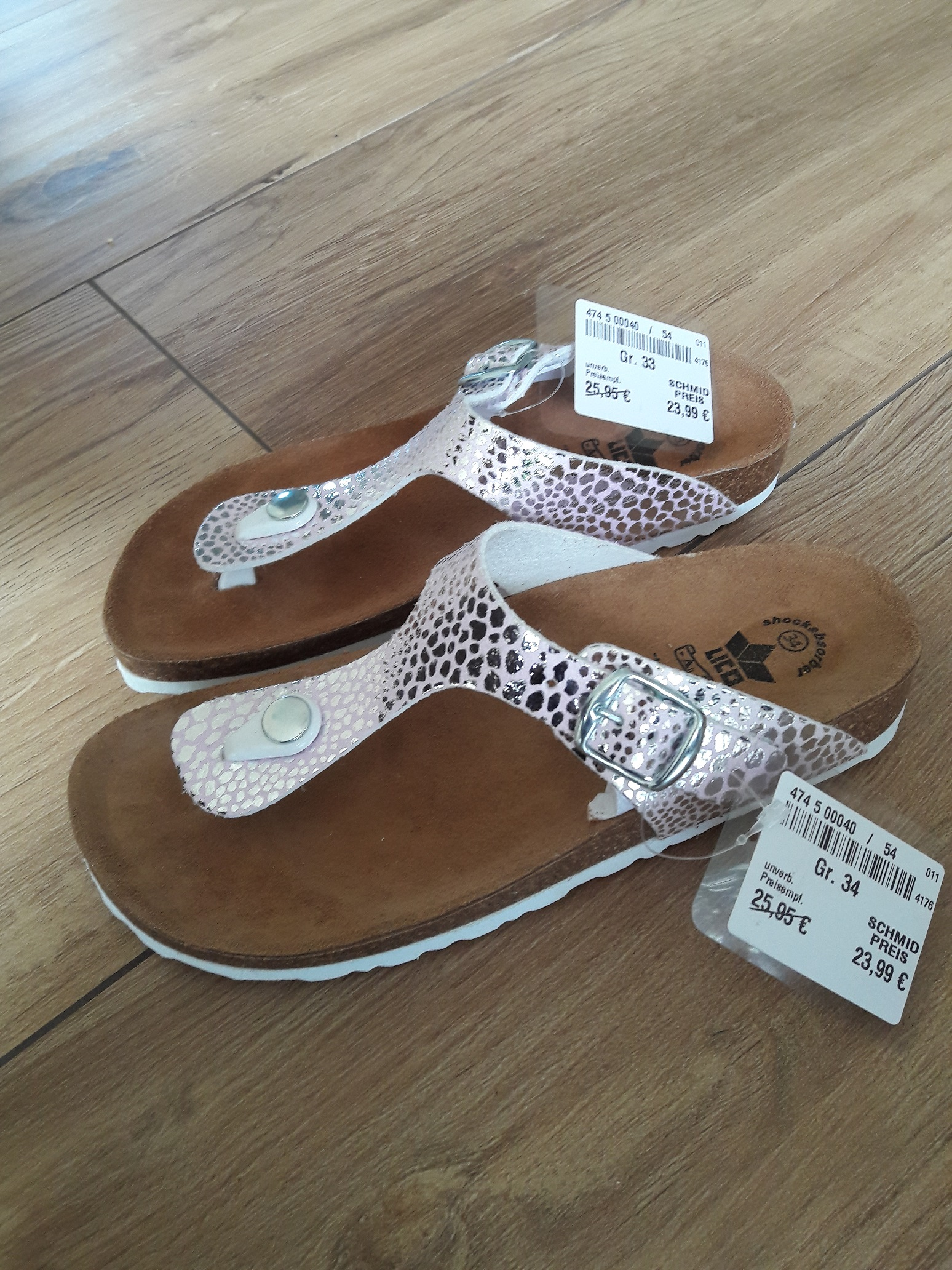 Foto des unpaars Zehentrenner Sandale für Mädchen