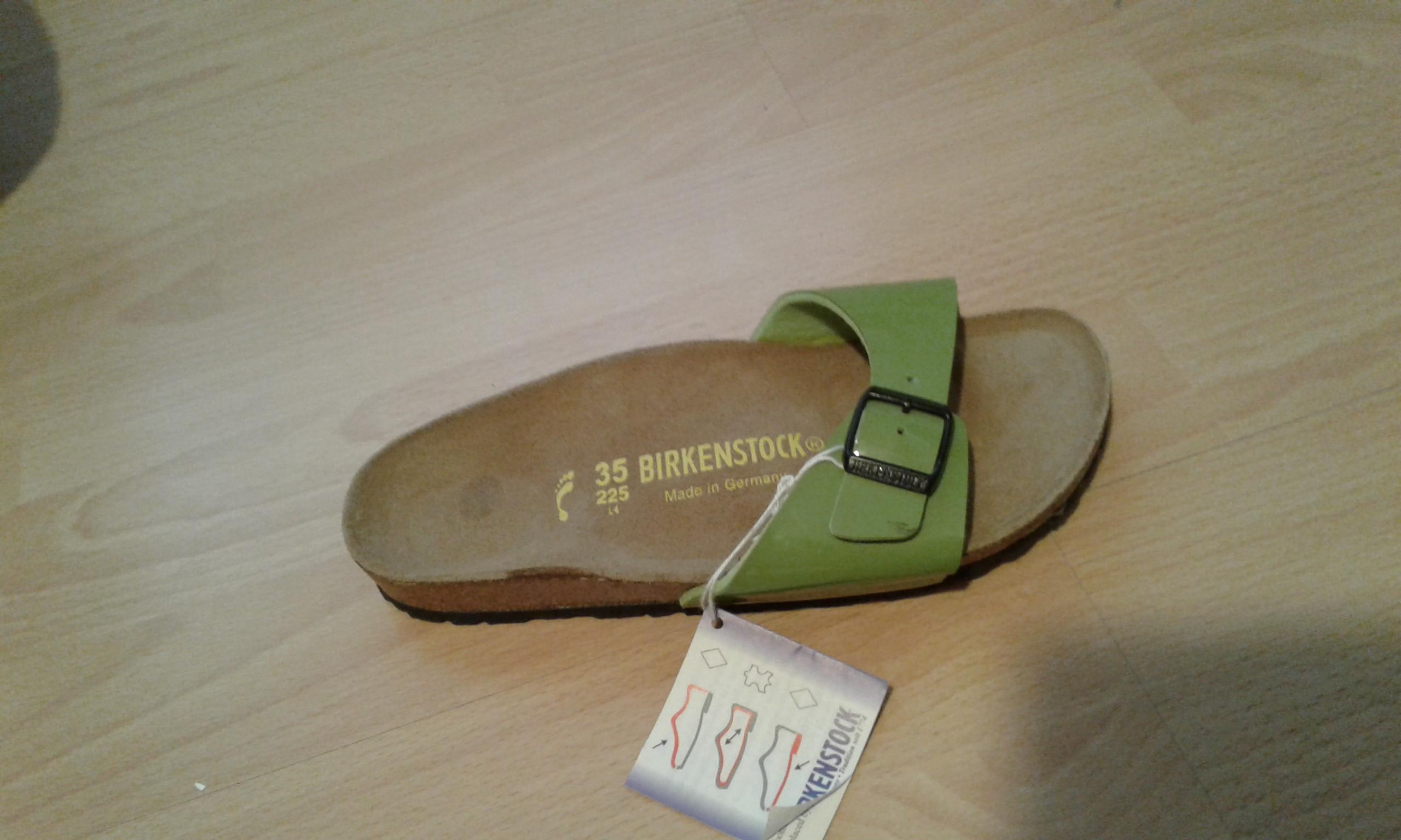 Neu 1x Birkenstock Sandale Einzelstück unpaar rechts Gr. 35 Leder