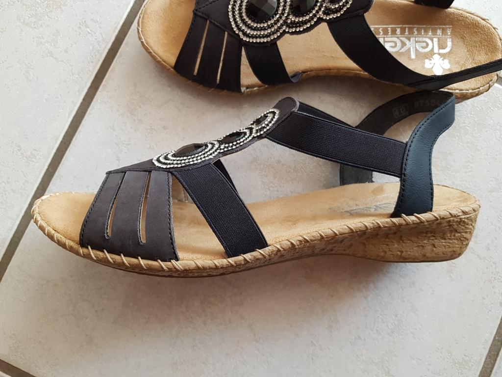 Bild Nummer 2 von Blaue Leder Sandale von Rieker