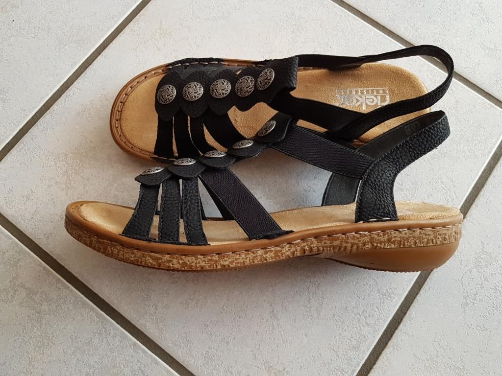 Bild Nummer 2 von schwarze Sandalen von Rieker